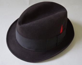 ca27efe1891a01 Charcoal Gray Stingy Brim Vintage 60s Fedora Hat by Champ 7