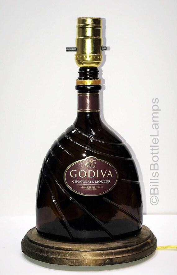 MIDORI Liqueur Bottle TABLE LAMP Light with Wood Base Bar Lounge Man Cave Decor