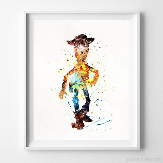 Toy Story Art Woody Print Toy Story Decor Disney Poster Etsy