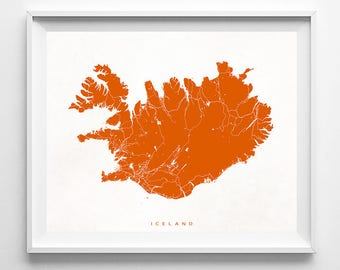 Iceland Map, Iceland Print, Iceland Poster, Map Print, Street Map, Europe, Map Decor, Baby Room Decor, Room Wall Art, Christmas Gift