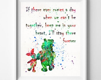 Pooh Quote Print, Winnie The Pooh, Disney Gift, Piglet Poster, Pooh Print, Disney Poster, Pooh Nursery, Piglet Gift, Pooh, Valentines Day