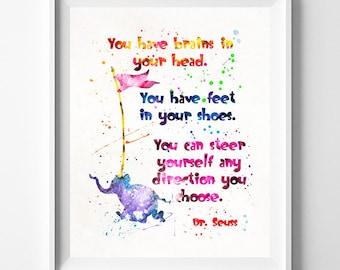 Doctor Seuss, Dr. Seuss Print, Doctor Seuss Art, Seuss Watercolor, Wall Art, Nursery Posters, Artwork, Valentines Decor, Type 4, Valentines