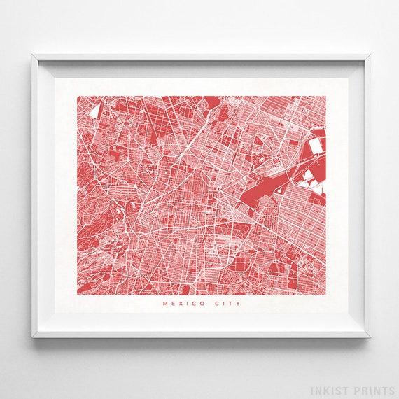 Mexico City Map, Mexico Print, Mexico City Poster, Mexico Art, Anniversary  Gift, Arty Print, Holiday Gift, Decor Idea, Christmas Gift