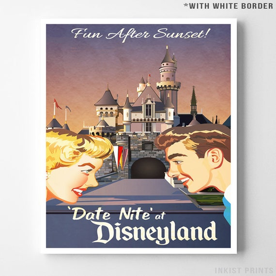 Date Night at Disneyland Poster Available in 5 Sizes