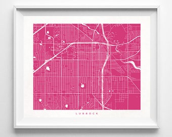 Lubbock Map, Texas Print, Lubbock Poster, Texas Art, Nursery Posters, Artwork Sale, Arty, Valentines Day Decor, Home Decor, Valentines Day