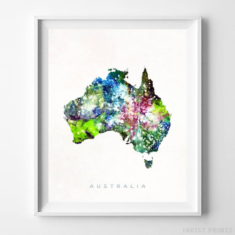 Free Map Of Australia To Print.Australia Map Print Australia Print Poster Australia Map Watercolor Painting Map Art Wall Art Wall Decor Fathers Day Gift