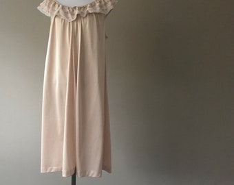 Vintage Nightgown Short Nylon Night Gown Lingerie by Komar 0dc69055c