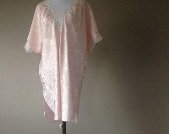 Vintage Night Shirt Short Satin Nightgown Night Shirt Large  878273f09