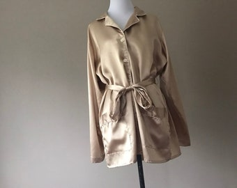 Vintage Satin Nightshirt Night Shirt by Cacique Lingerie 92eeed2b7