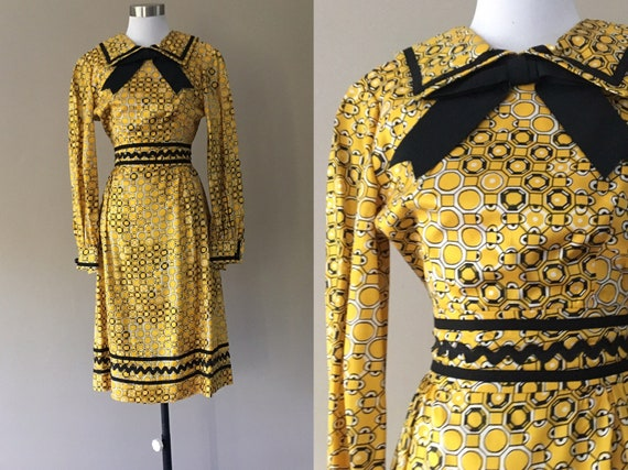 70's PAPPAGALLO Dress, VINTAGE 1970'S DRESS with C