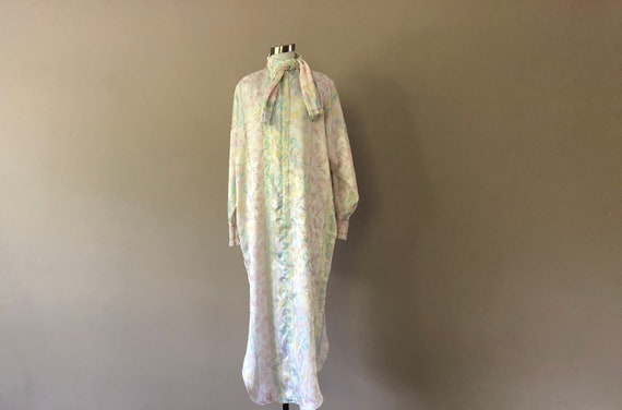 Vintage Mary McFadden Zipper Front Nightgown Robe