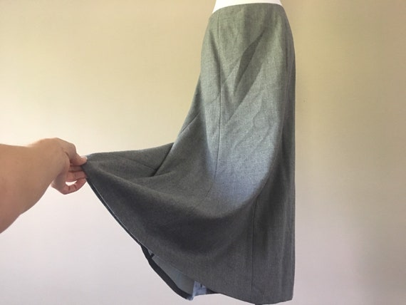 Talbots Wool Maxi Skirt, Long Gray Skirt, Size 6