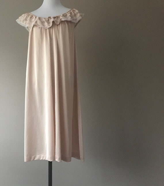 Vintage Nightgown Short Nylon Night Gown Lingerie by Komar  bf7633147