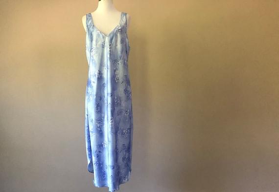 Liquid Satin Nightgown Slip Dress Lingerie, Large,