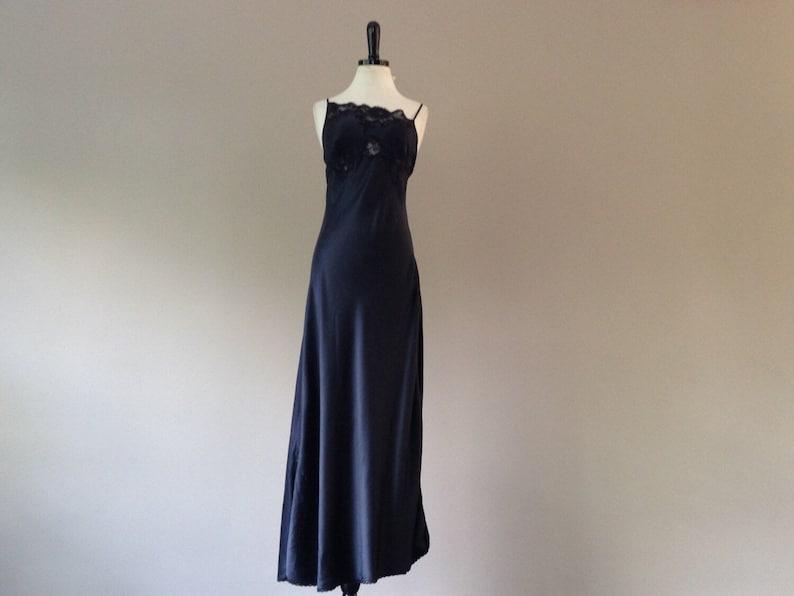 4344a883f063b Victoria's Secret Silk Slip Dress Nightgown Lingerie Long | Etsy