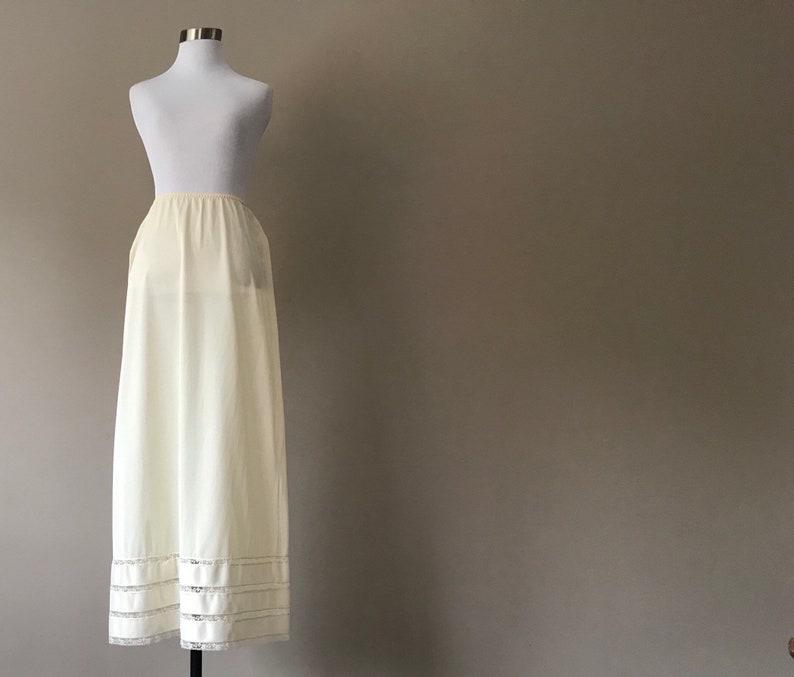 b5967cfd9b377 Vintage Half Slip Maxi Skirt Slip Long Underskirt Slip Nude | Etsy