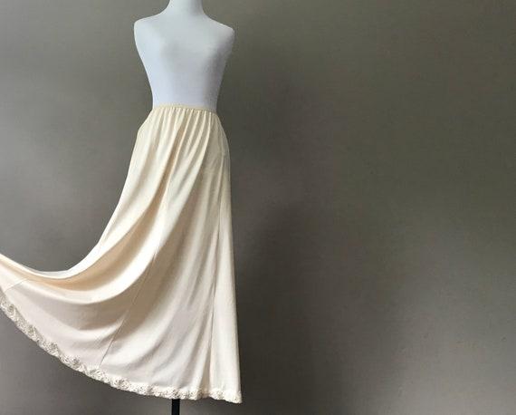 Vintage Shapewear Lingerie Long Half Slip Nude Maxi Skirt Etsy