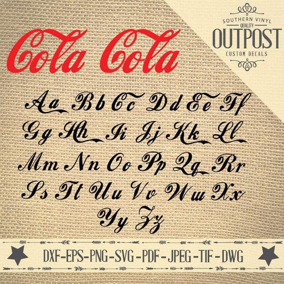 Cola Script Monogram SVG Lettertype Dxf Eps Png SVG Jpeg