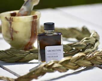 THE HEALER ARCHETYPE  natural botanical perfume   sweetgrass, orange blossom, mitti attar