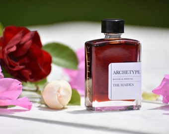 THE MAIDEN ARCHETYPE   natural botanical perfume   champaca, makrut lime, grapefruit, rose, coconut, bright tropical rose floral