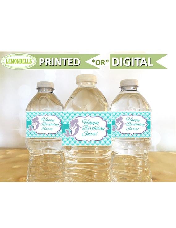 Botellas de agua para niños Diseño Sirena