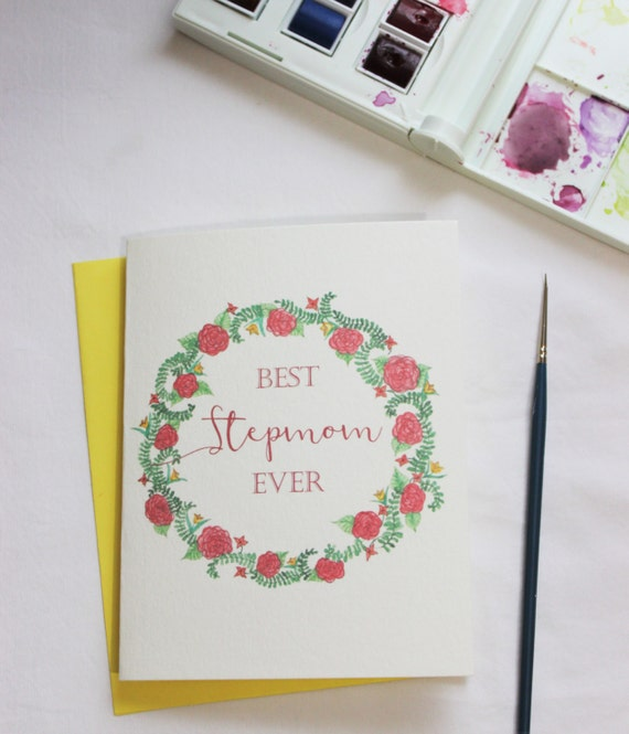 Stepmom Birthday Card Best Ever Floral