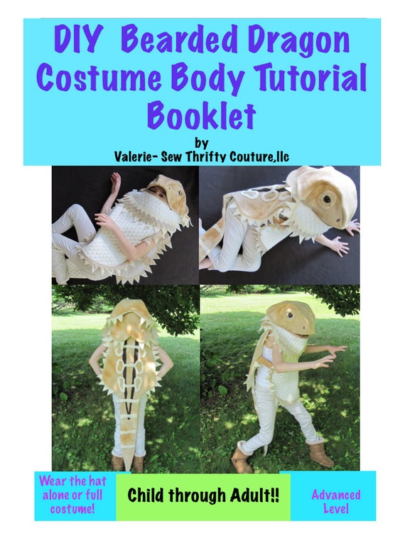Diy Bearded Dragon Costume Pdf Sewing Pattern And Tutorial Booklet
