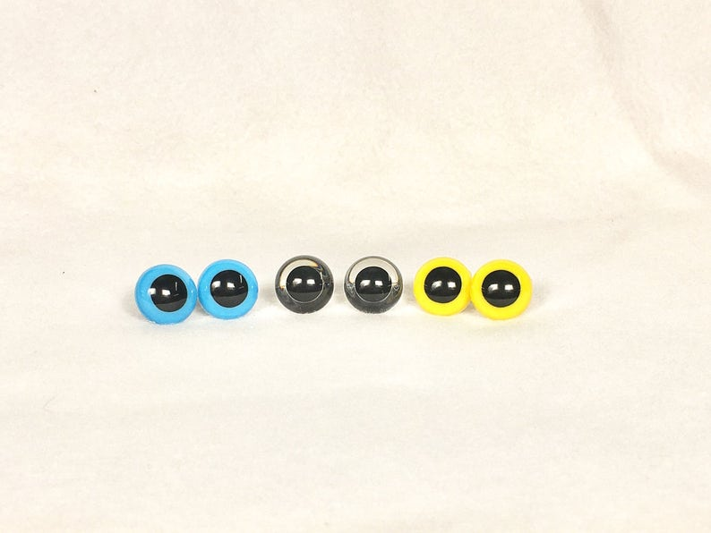 18mm  Plastic Eyes multiple colors available Safety Eyes for Stuffed Animals you choose or buy more than one and mix and match