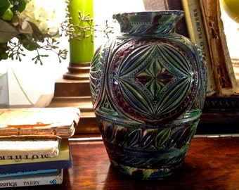 Arts and Crafts style pottery vase ceramic vase flower vase Glazed pottery handmade vase Studio pottery ceramics and pottery Bo
