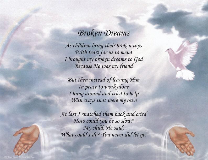 Inspirational Poem Broken Dreams