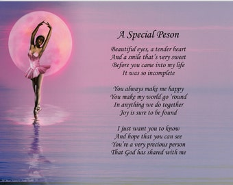 Personalized Poem A Special Person