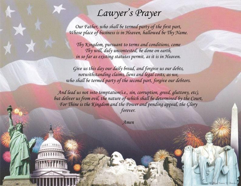 Personalized Poem Lawyer's Prayer