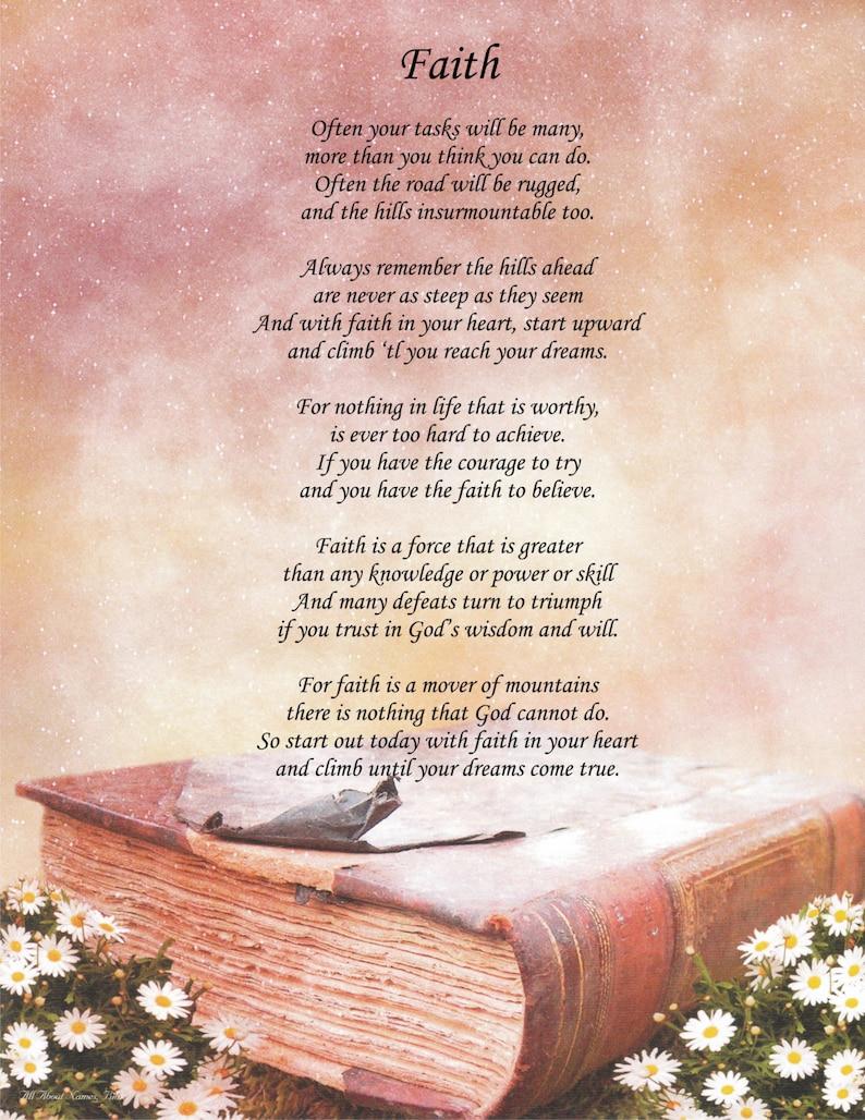 Faith In God Poems