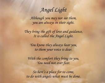 Inspirational Poem Angel Light