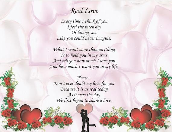 Wonderlijk Valentijnsdag gedicht echte liefde   Etsy ML-23