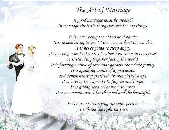 Poemas Para Matrimonio Catolico : Poema de boda el arte del matrimonio etsy