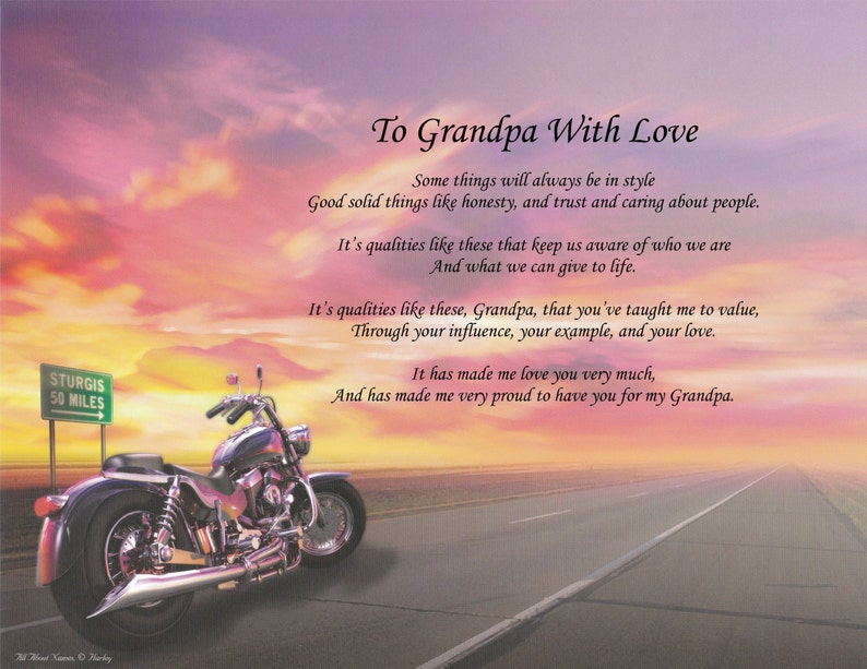 Personalization Poem To Grandpa With Love