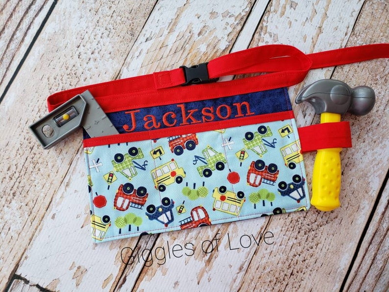 Personalized Tool Belt Kitchen Art Apron for Toddler Child image 0