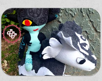 Legend of Zelda plush doll Wolf Link and Imp Midna