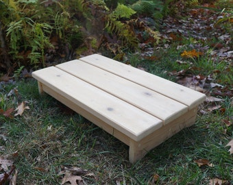 Solid Cedar Wood Handcrafted Heavy Duty Deck Step Or Spa