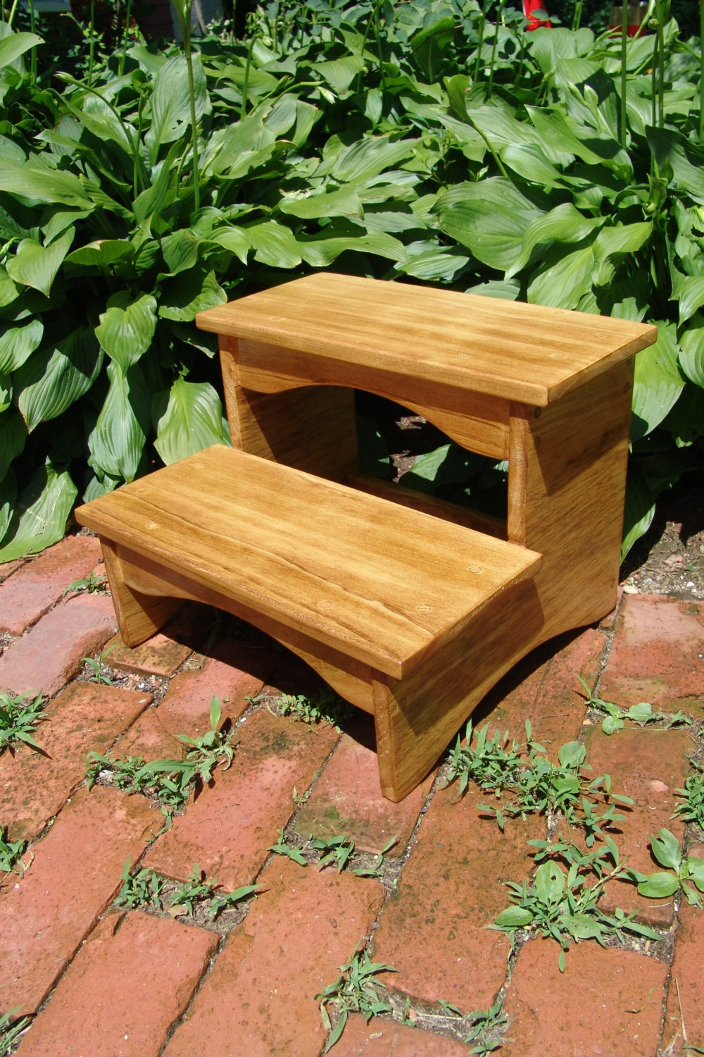 Bed Step Stool: Handcrafted Heavy Duty Step Stool Wooden Kitchen Bedside