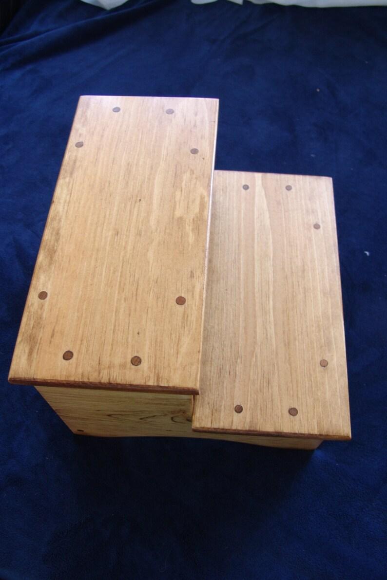 Wooden Step Stool Bedside