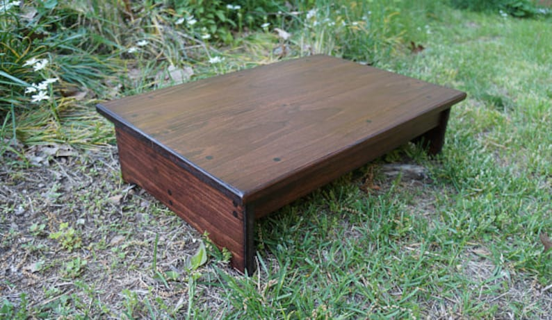 16 x 18 x 8 or 9 h Handcrafted Heavy Duty Step Stool Bedside Pet Step more stains /& sizes avail Riser English Chestnut