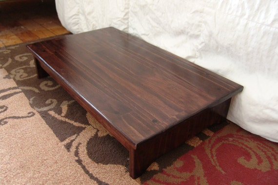 Handcrafted Heavy Duty Step Stool Solid Wood Bedside Bed