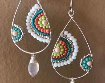 Summer color earrings in sterling silver