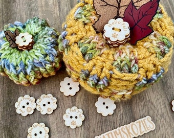 Stackable Buttons Pumpkin Stems / .75 inch and 1 inch
