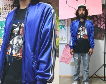 Vintage pierre cardin windbreaker from the 1980's track jacket blue size small medium