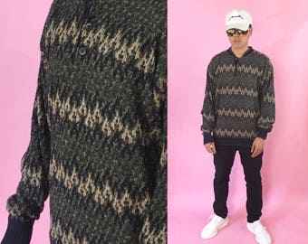 vintage knit sweater ugly coogi cosby 1990s 1980s 90s 80s patterned abstract