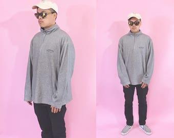 Vintage sweatshirt pullover sweatshirt grey sweatshirt 1990s 1980s 90s 80s grey sweatshirt