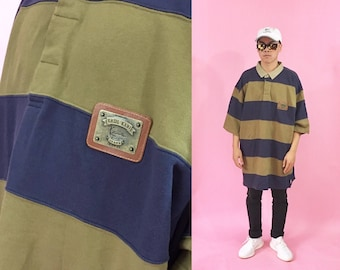 Vintage Karl Kani sweater polo sweater 1990's 1980s striped shirt cross colours fubu guess 90s 80s